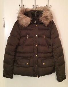 Details zu Damen Winterjacke Daunenjacke, Hallhuber, Größe 38 Farbe Khaki