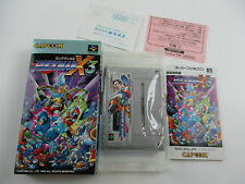 Rockman X 3 With box and manual Famicom SFC SNES Japan Ver