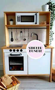 Toy Play Kitchen Vinyl Sticker Microwave And Oven Dials Suit Ikea Duktig Kitchen Ebay