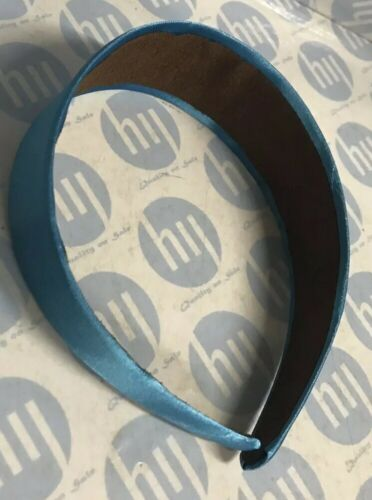 Headband 4.5cm Wide Satin Sky Blue Fabric Alice Band Hair Band *new*