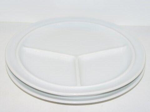 Porcelæn, Bing & Grøndahl  Hvid steak tallerken, Bing &