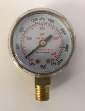 Pressure Gauge 2 High Pressure For Acetylene Regulators 0 400 Psi 2 400