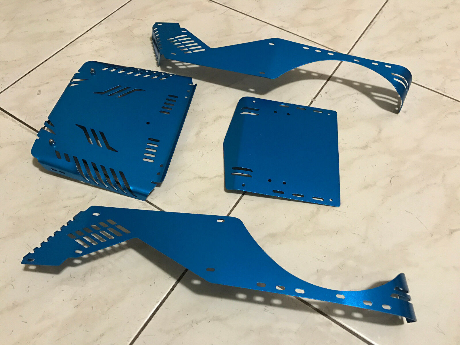 Aluminum corpo Panel Kit for 1 1 1 10 Axial Wraith blu 6f4719