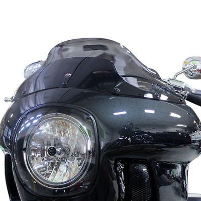 "Klock Werks 9/"" Dark Smoke Flare Windshield Harley FXRP Style Fairings FXR Dyna"
