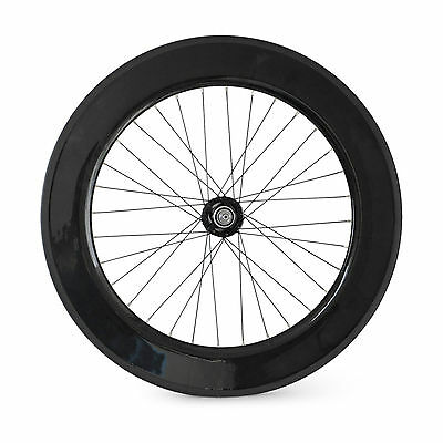 700C 88mm Clincher Carbon Track/Fixed Gear Single Speed Rear Bicycle/Bike Wheel