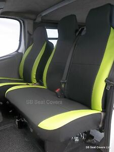 Image Is Loading VW TRANSPORTER T4 VAN SEAT COVERS ANTHRACITE LIME
