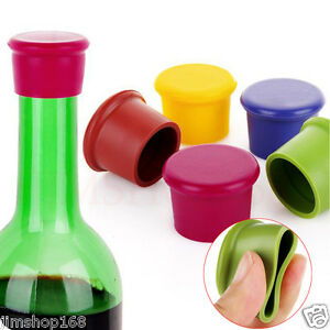 Pack-of-5-Assorted-Colors-Silicone-Reusable-Wine-Bottle-Caps-Beer-Sealer-Cover