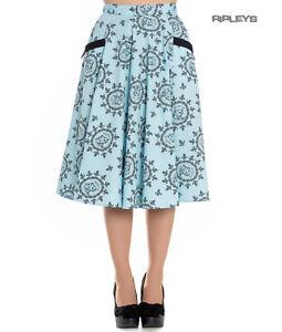 3ffe4bd21c9 Hell Bunny Pin Up Rockabilly 50s Skirt SAILOR GIRL Pastel Blue All ...