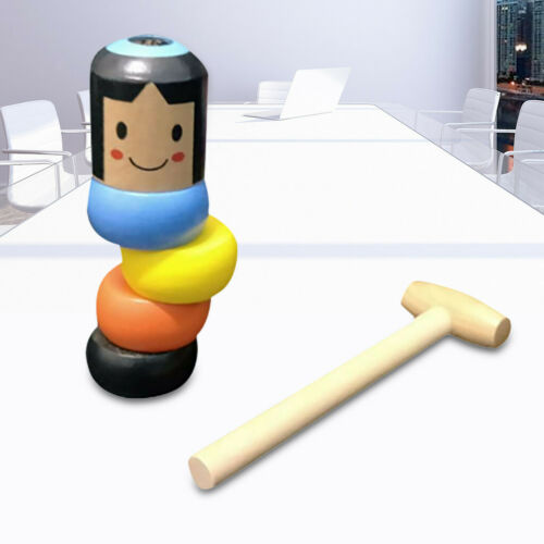 Immortal Daruma by Magic Stubborn Wood Man Funny Wooden Toy US ~BUY 2Get 1!