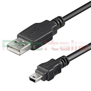 Cavo-da-0-a-5m-USB-2-0-tipo-A-MINI-maschio-B-5pin-foto-camera-dati-pc-hard-disk