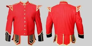 Doublet Red Blazer Wool Gold Braid Gold Buttons Black Cuffs And Upper Flaps