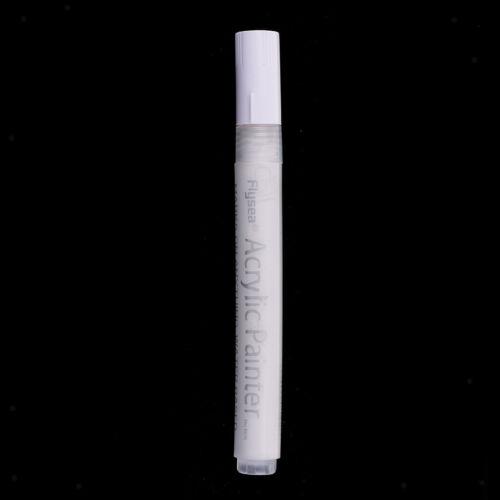 2x Acrylfarbe Marker Kunst dauerhafte Malerei Metall Glas Marker Stift weiß