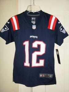 quality design a1f29 1250e Details about Youth Nike Tom Brady New England Patriots NFL Navy Color Rush  Game Jersey $75