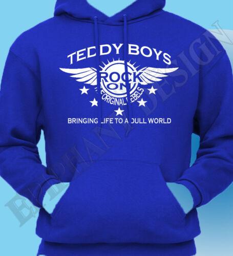 Teddy Boy HOMAGE rock and roll Café Racer les 50/'s Sweat à capuche sweat à capuche les années 50 50s