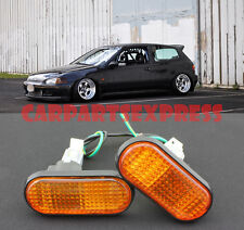For 92-95 Honda Civic Amber Side Marker Lights EG6 JDM