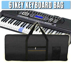 61Key-Keyboard-Electric-Piano-Padded-Case-Gig-Bag-Advanced-Fabric-Carry-Bag