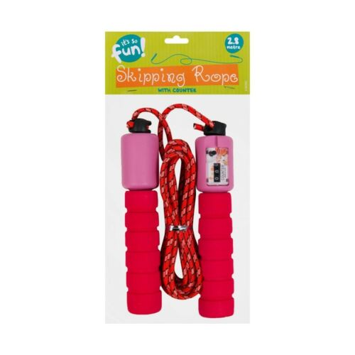2.8mtr Childrens Skipping Rope With Counter Jump Speed Exercise Foam Handles