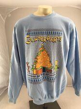 Vintage Simpsons Christmas Sweatshirt Crew Shirt 90s  Quote be The Burn NOS Rare