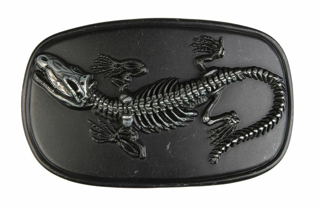 Gürtelschnalle - Fossil Dinosaurier - Schliesse Wechselgürtel Used-Look Geschenk