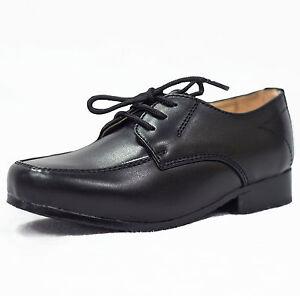 Boys shoes Formal Shoes Black Laces Wedding Infant Junior communion party