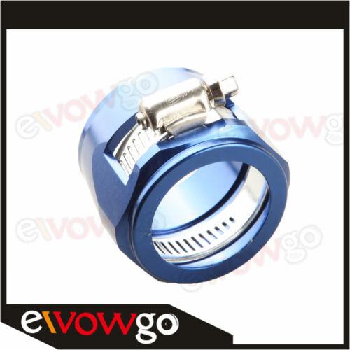 24AN AN24 AN 24 HEX Finisher Adaptor Fuel Hose Clamp Aluminum Blue