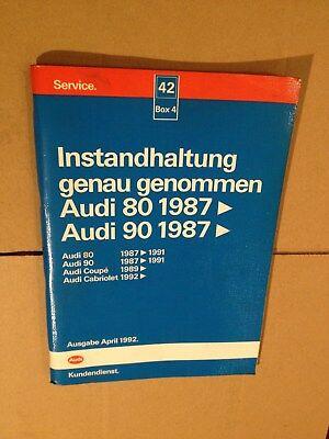 Loyaal Reparaturleitfaden Werkstatthandbuch Instandhaltung Audi 80 90 1987