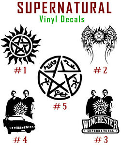 Details about Supernatural Vinyl Decal Sticker Anti Possession Symbol Sam  Dean Winchester Car
