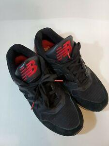 Detalles de 10.5 D M para Hombre New Balance M530LC 530 ENCAP Negro Rojo  Zapatillas Zapatos Gamuza Cuero- ver título original