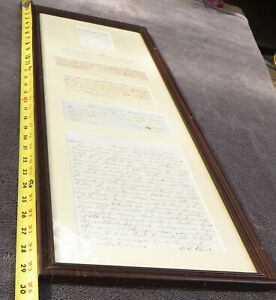 Historical Documents Memoribilia Anderson SC Bank Money Payment Tax Framed