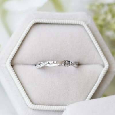 0.55 Ct Black Round Cut Diamond Wedding Band Engagement Ring 925 Sterling Silver