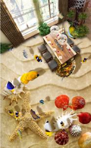 3D Sand Beach Shell 454 Floor WallPaper Murals Wall Print Decal AJ WALLPAPER US