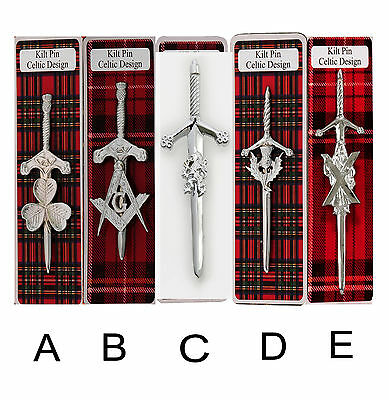 Scottish Kilt Pin 4 Traditional Highland Dress Skirt Kilts Pins Sporran Sporrans