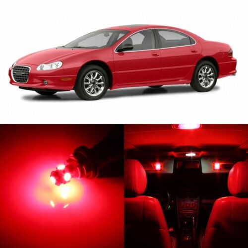 10 x RED Interior LED Lights Package For 1998 - 2004 Chrysler Concorde +TOOL