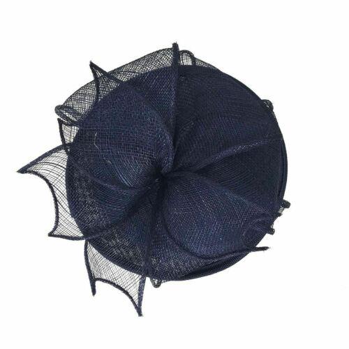 Flower women sophisticated hat net bow fascinator clip headband royal races