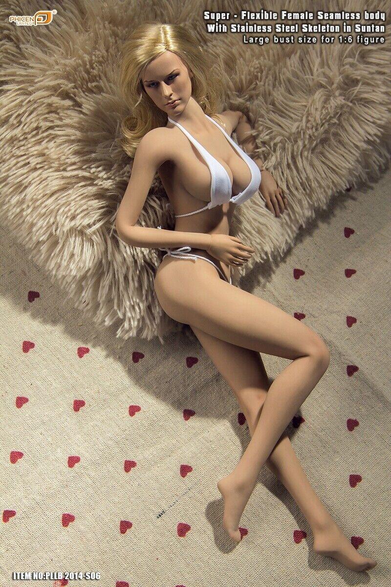 Tbleague Phicen S06  Femelle sans Couture Grand Buste Corps Bronzage avec   Tête  le plus récent