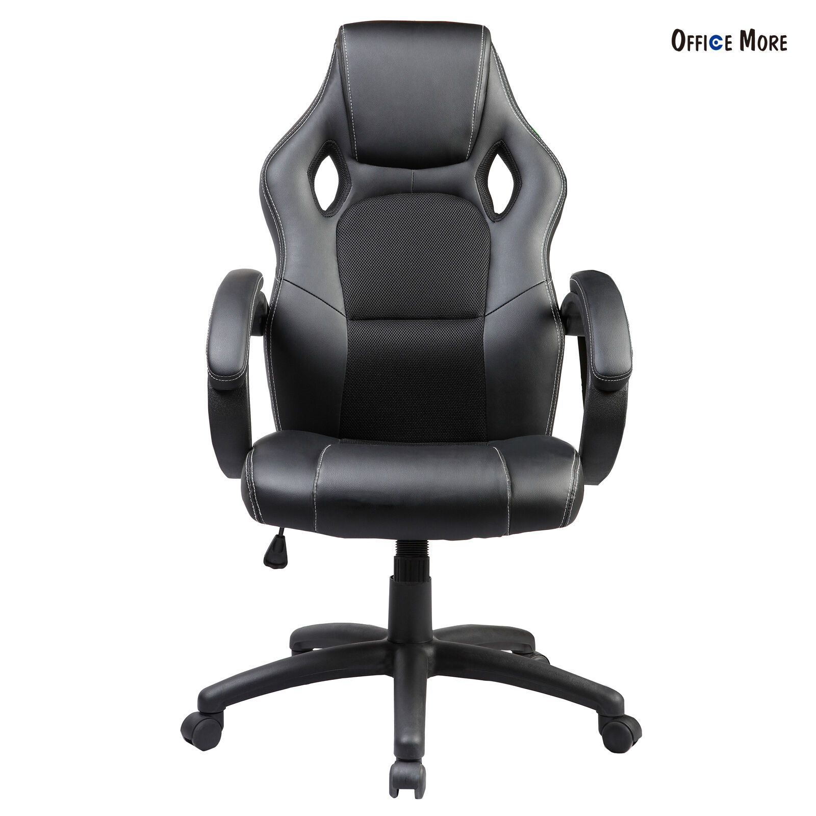 Executive Swivel fice Chair Leather Race Car Style Bucket Seat