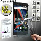 2 Pack Real Premium Tempered Glass Screen Protector For ARCHOS 55 Diamond Selfie