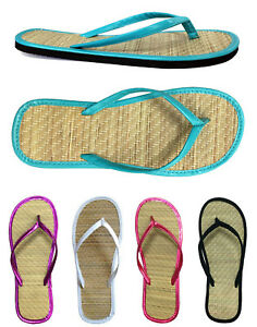 a6ca09765e107 New Women s Bamboo Flip Flop Sandals Beach Gym Pool Party Wedding ...
