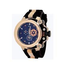 Rose Gold Black Fashion Mens Designer Geneva Silicone Sports Watch Oversized