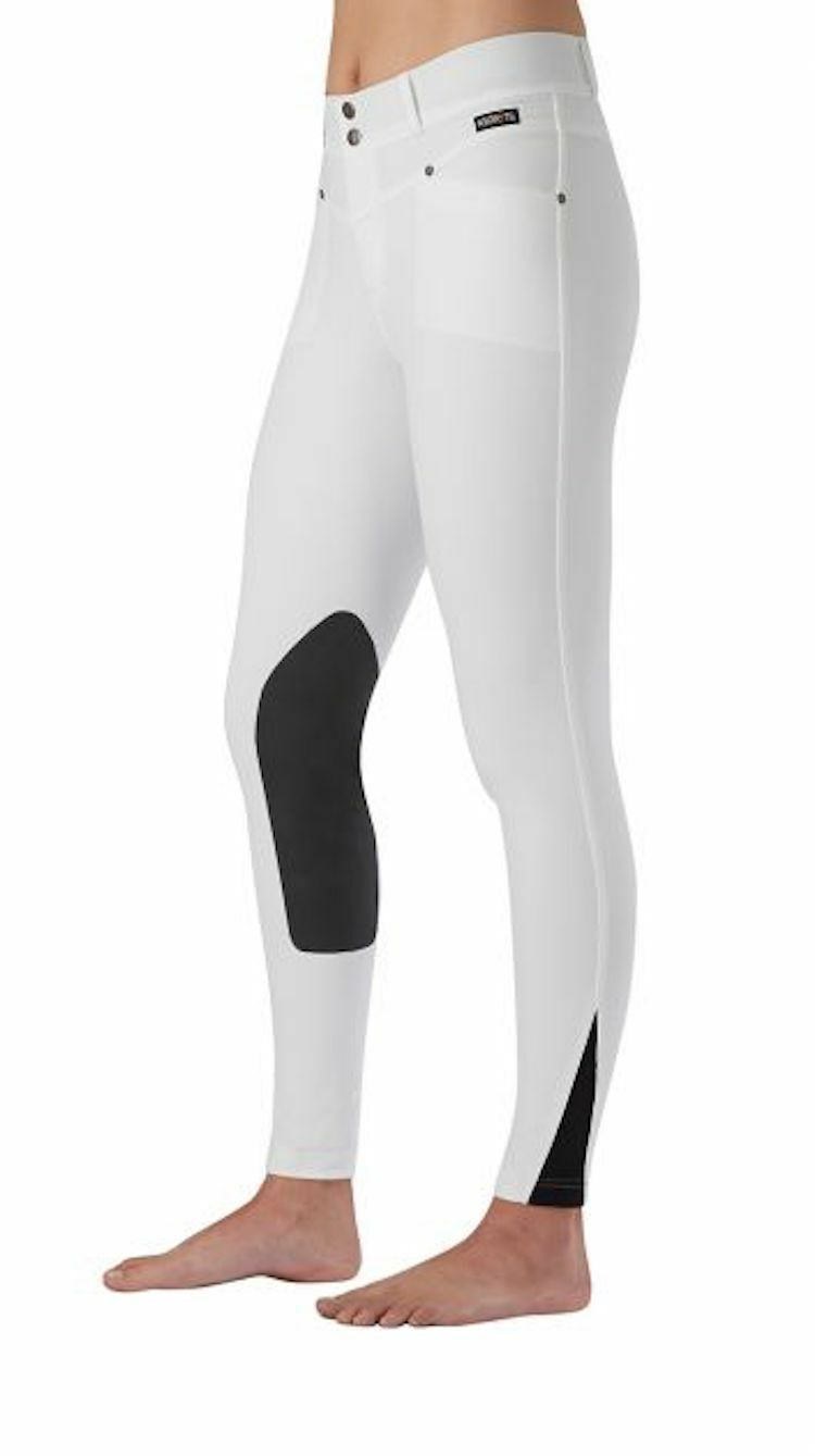 Kerrits Cross Over Kneepatch Riding Breech-White-XL