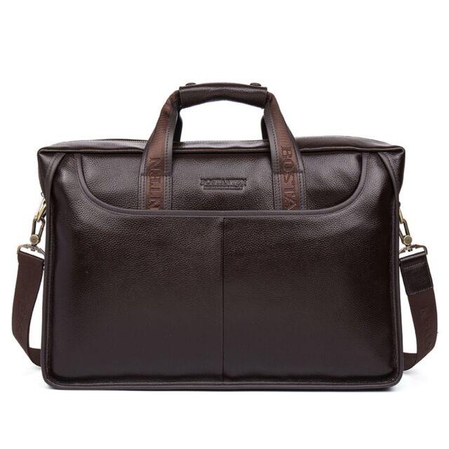 ddfb5c27e BOSTANTEN Leather Briefcase Laptop Handbag Messenger Business Bags for Men