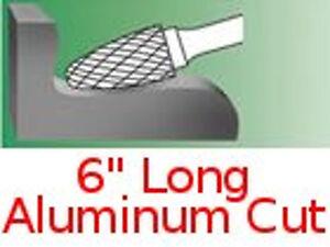 Details about SF-3-NF L6 Long Tree Radius End Carbide Bur Aluminum Cut burr  rotary file