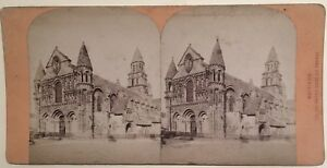Poitiers Eglise Notre-Dame La Grande Francia Foto Stereo Vintage Albumina