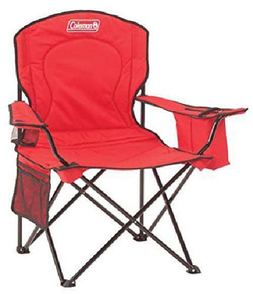 Coleman Portable Folding Camping Chair Heavy Duty with Cooler Armchair  Cup Holde  top brand