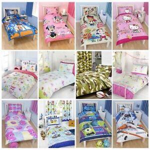 Ninos-Disney-AND-CHARACTER-Edredon-Individual-Fundas-infantil-Ropa-De-Cama