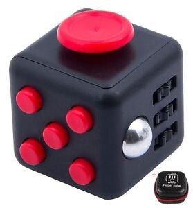New-Fidget-Cube-Children-Vinyl-Desk-Toy-Adults-Stress-Relief-Cube-FREE-Spinner