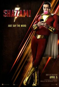 Shazam-Original-D-S-Movie-Poster-27-X-40-Zachary-Levi-Mark-Strong-Ian-Chen-DC