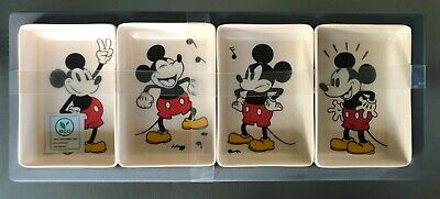 Disney Mickey Mouse Eco Friendly Bamboo Fibre Banchan 4 Side Dishes Serving Tray Ebay