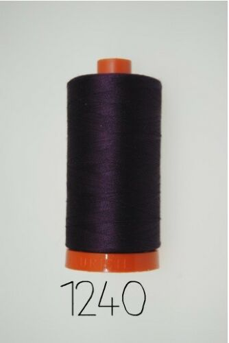 100/% Cotton Thread 325m Aurifil 12wt Very Dark Eggplant 1240