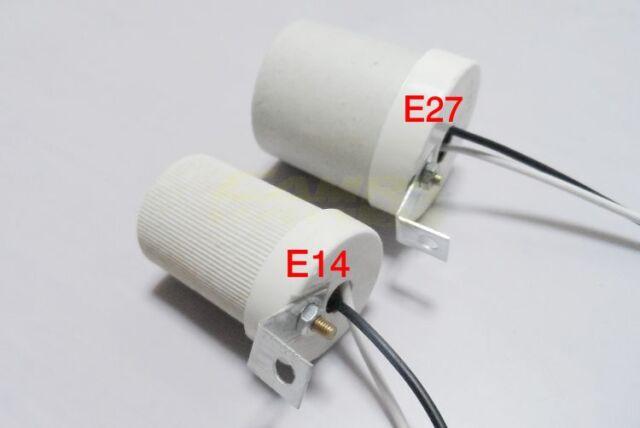 10 X Porcelain Light Bulb Base E14 Lamp Holder Ceramic E14 Socket ...
